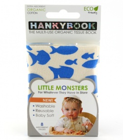 HankyBook Little Monsters 3-Set - Turtle, Animals & Fish